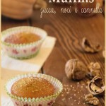 Muffins alla zucca con noci e cannella