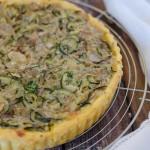 Torta salata zucchine, finocchi e formaggio Asiago