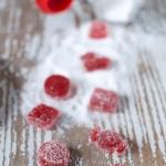 Caramelle gelée fragola e rabarbaro