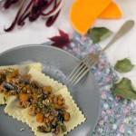 Ravioli radicchio, zucca e formaggio asiago