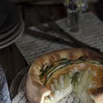 Bavarese Lievitata, torta salata con asparagi