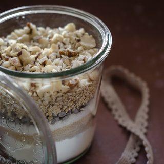Preparato per cookies con arachidi e fiocchi di avena